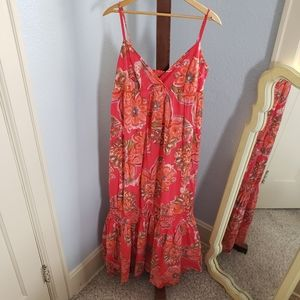 New York & Company long floral resort dress XL